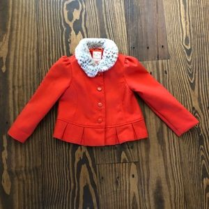 4T-5T Toddler fashion jacket with faux fur color